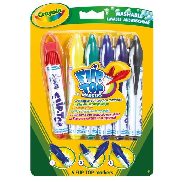 Crayola 6 Flip Top Markers