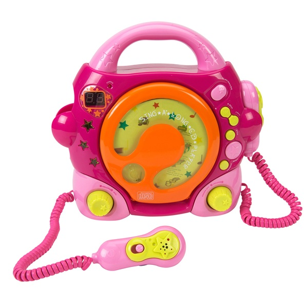 Childrens Sing Along CD Player - Pink
