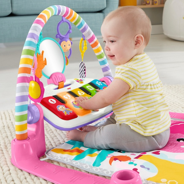 Fisher-Price Piano Baby Play Mat and Play Gym Pink