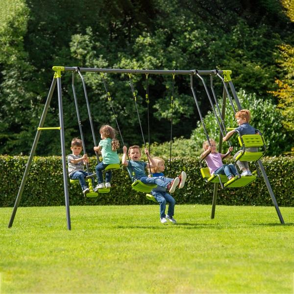 4 Unit Metal Swing Set