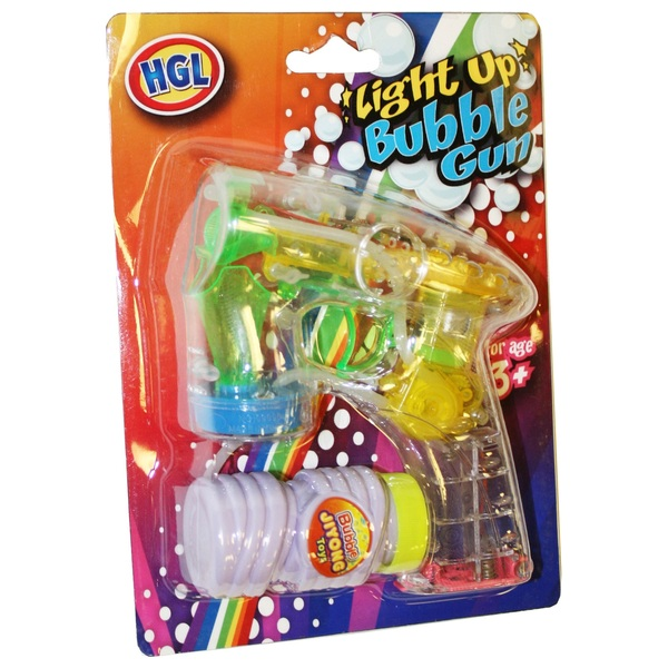 HGL Light Up Flashing Bubble Gun