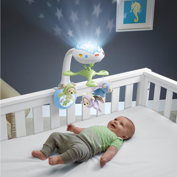 Fisher-Price Butterfly Dreams 3-in-1 Newborn Baby Light Projector Mobile