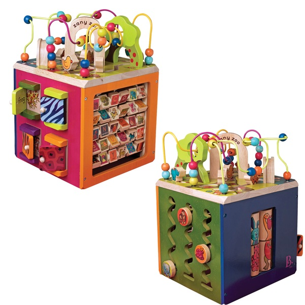 B. Zany Zoo Wooden Activity Cube Assortment
