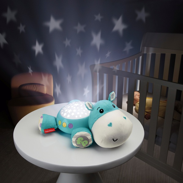 Fisher-Price Hippo Projection Soother Blue