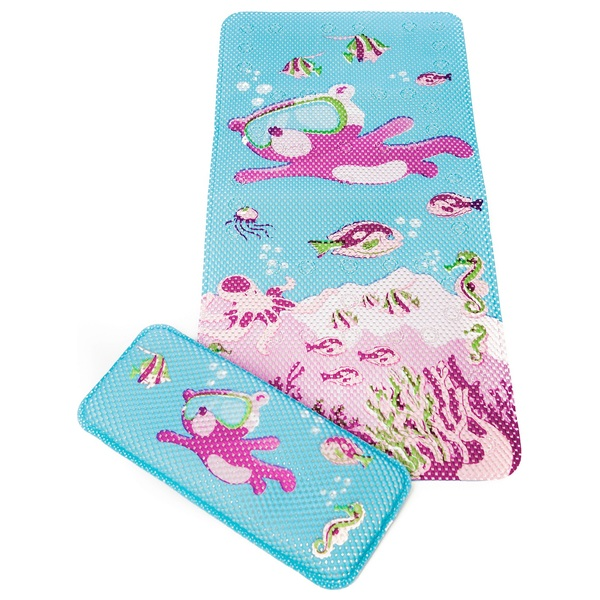 Clevamama Under The Sea Bath Mat And Kneeling Cushion