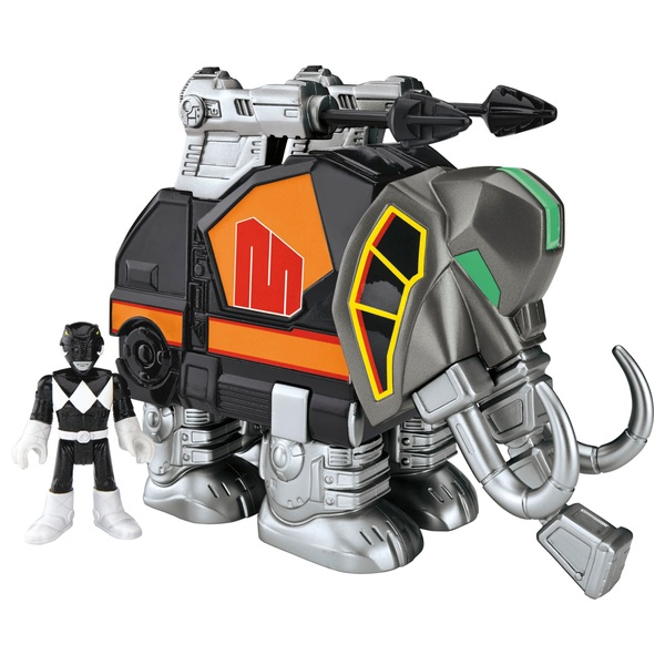 Imaginext Power Rangers Black Ranger and Mastadon