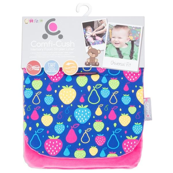 CuddleCo Comfi -Cush Memory Foam Stroller Liner- Fruity Tutti
