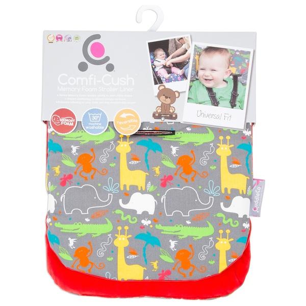CuddleCo Comfi-Cush Memory Foam Stroller Liner Jungle Boogie