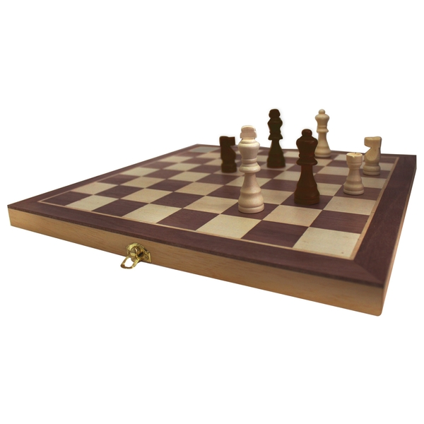 Chess, Draughts and Backgammon Set with Folding Case