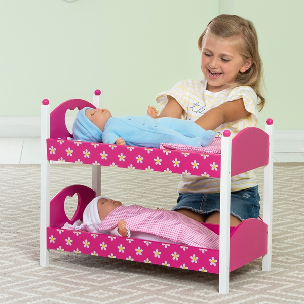 Dolls Wooden Bunk Beds