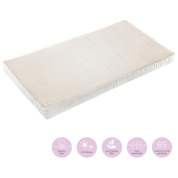 baby elegance memory foam cot mattress