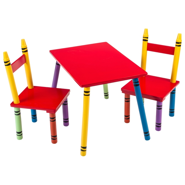 wooden crayon shaped table and chairs - other preschool ireland