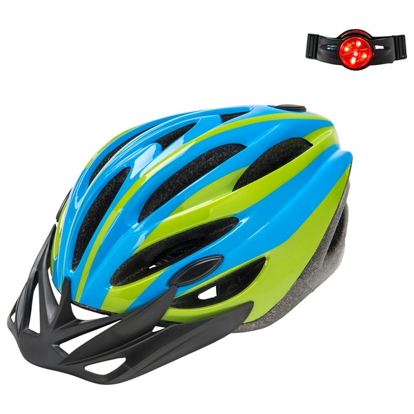 Bike Helmet Blue and Green (Size 50-52cm)