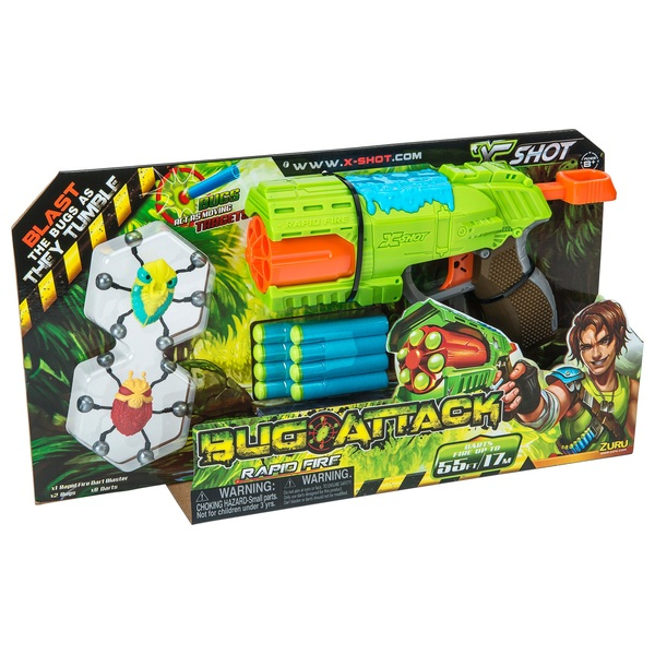 Zuru X-Shot Bug Attack Rapid Fire Dart Blaster