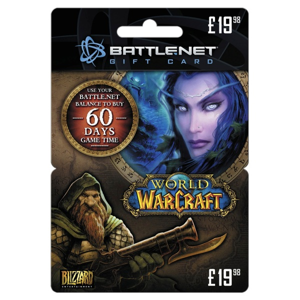 World of Warcraft 60 Day Timecard £19.98