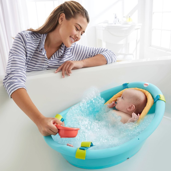 baby kids folding itm portable newborn bath toddler tub inflatable thick bathtub us