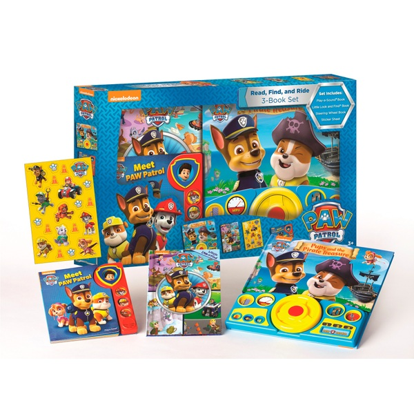 Nickelodeon Paw Patrol Read Find And Ride Box Paw