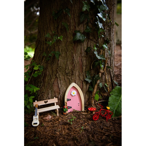 Irish fairy door pink arched fairies uk for Fairy door adairs