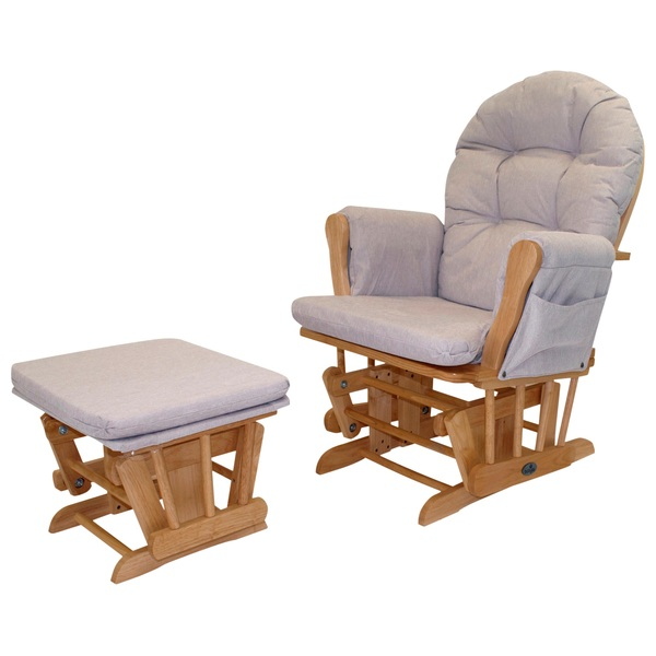 babylo glider chair and foot stool honey dew - nursing chairs ireland