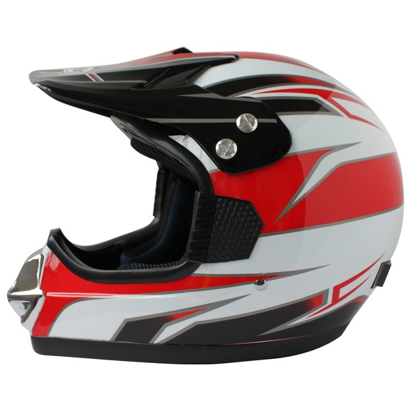 Moto Cross Helmet Red & White  (Size 59-60cm)