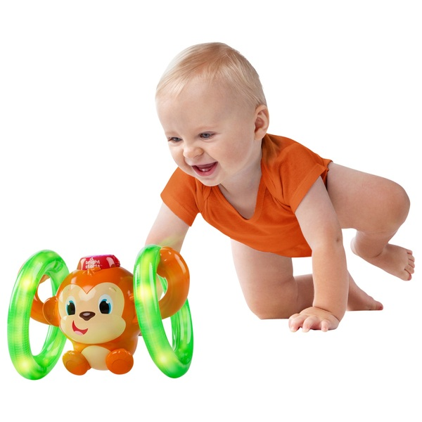 Bright Starts Lights Baby Roll & Glow Monkey