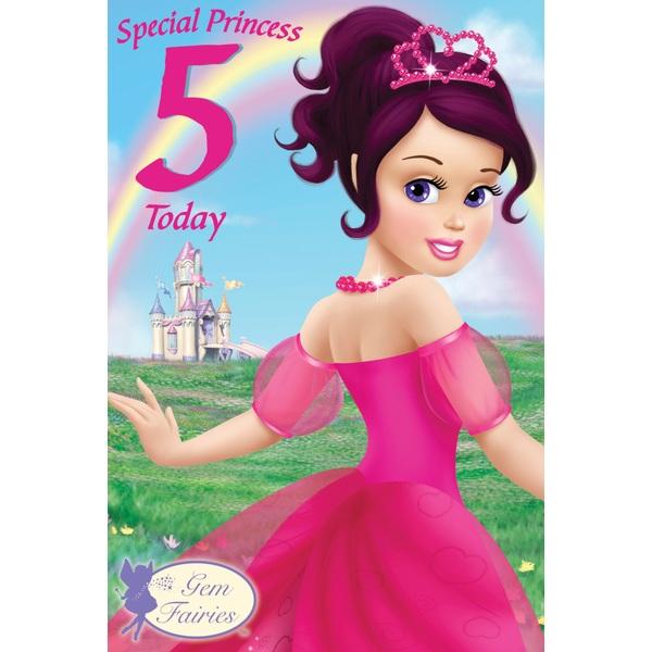 Gem Fairies 5th Birthday Card