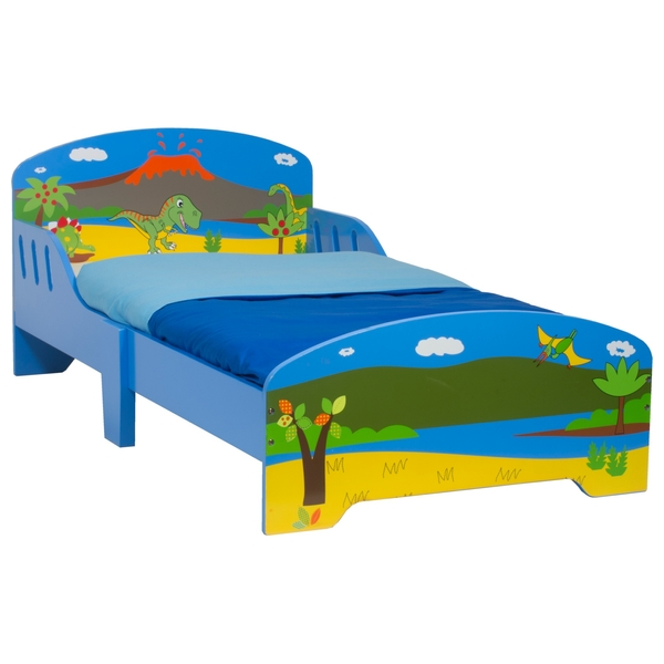 Dinosaur Wooden Toddler Bed - Smyths Toys