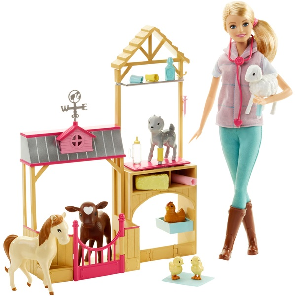 Barbie Farm Vet Doll and Playset