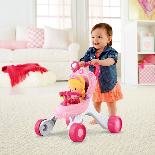 Fisher-Price Princess Stroll-Along Musical Walker and Doll Gift Set - Fisher-Price UK