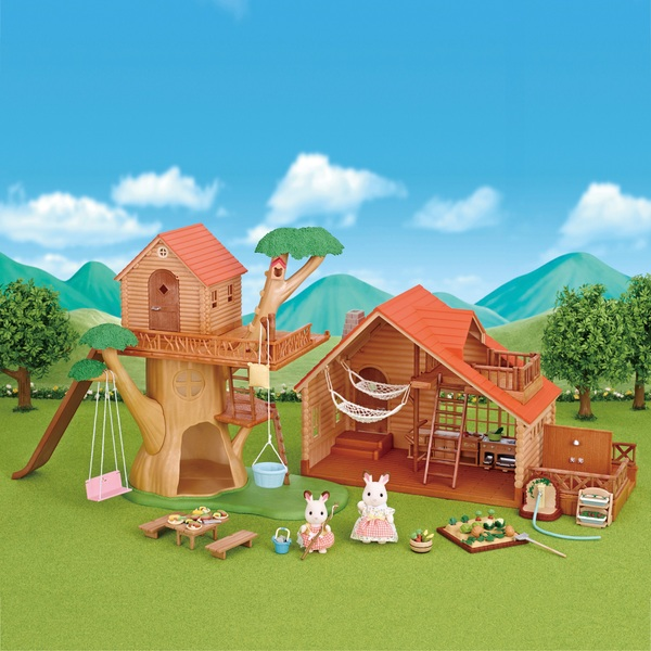 Sylvanian Families Treehouse & Log Cabin Gift Set