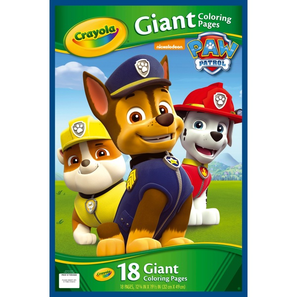 Crayola Giant Colouring Pages Paw Patrol Crayola Uk