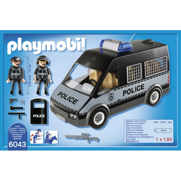 playmobil city action police van with lights and sound 6043 - Playmobile Police
