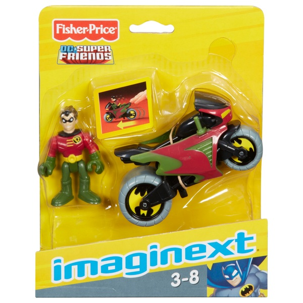 Fisher-Price Imaginext DC Super Friends Robin And Cycle Figures