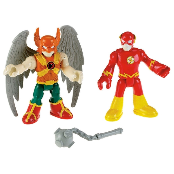 Fisher-Price Imaginext DC Super Friends Flash And Hawkman Figures