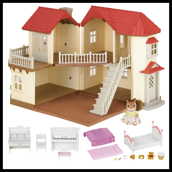 Sylvanian Families Beechwood Hall Gift Set with 1 figure and 15 accessories