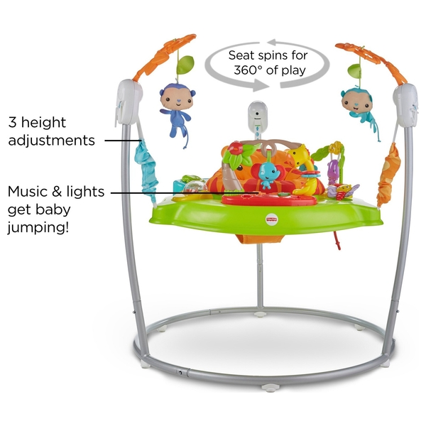 best selection of 2018 shoes stylish design Fisher-Price Roaring Rainforest Baby Jumperoo - Fisher-Price Jumperoo &  Rockers | Smyths Toys UK