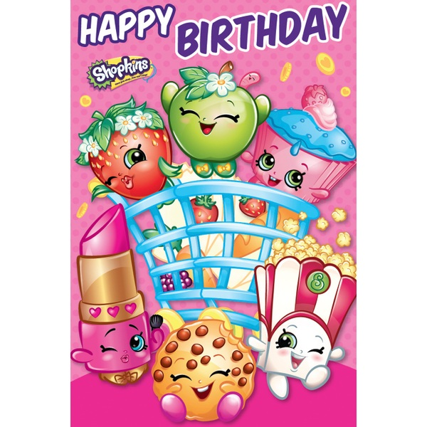 Shopkins General Birthday Card