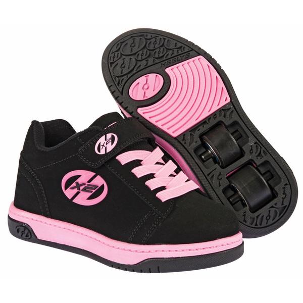 heelys x2 dual up black pink uk 1 uk size 1 uk. Black Bedroom Furniture Sets. Home Design Ideas