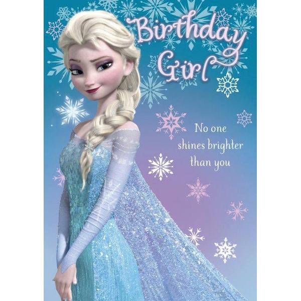 Disney Frozen No Age Birthday Card Girl