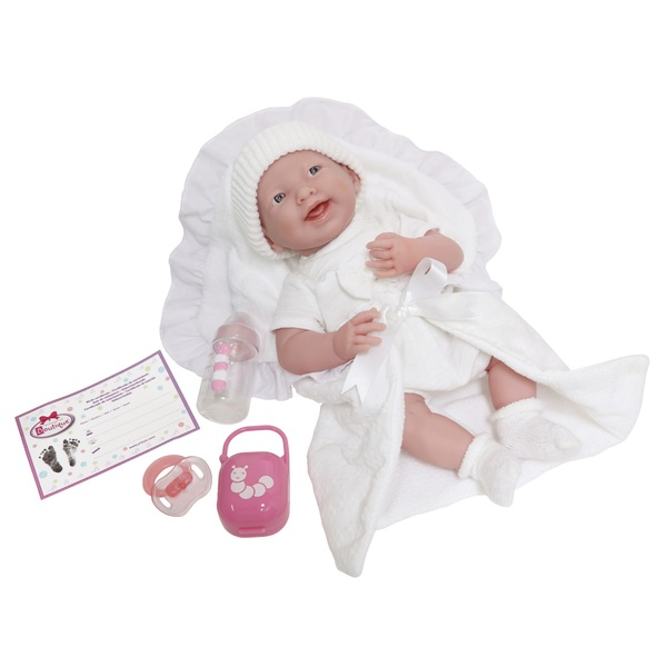 39cm La Newborn & Accessories Deluxe White Outfit