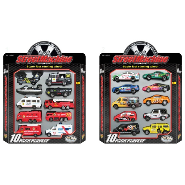 10 pack Die-cast Vehicles - Assortment
