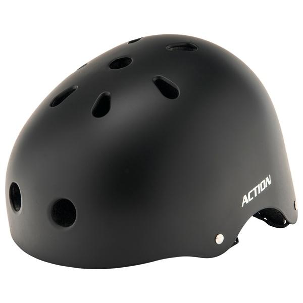 Skate Helmet  Black (Size 55-58cm)