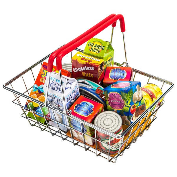 Household Stores: Stainless Steel Shopping Basket