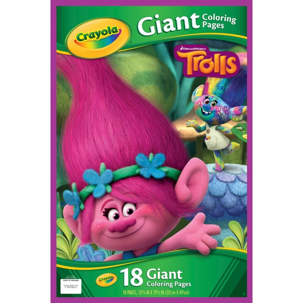 Trolls Giant Colouring Pages