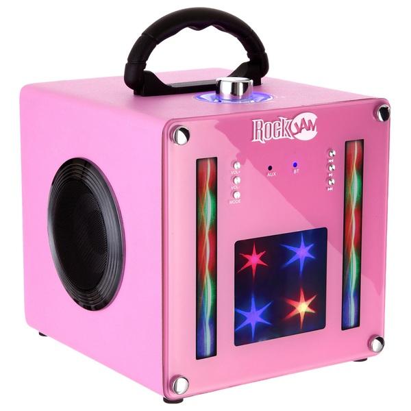 Rockjam Bt1106 Light Show Bluetooth Speaker Pink