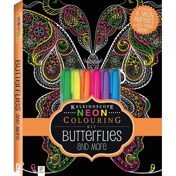 Neon Colouring Kit Butterflies