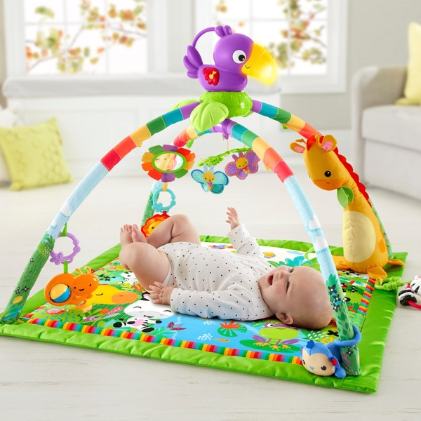 Fisher-Price Rainforest Music & Lights Deluxe Gym Baby Toy