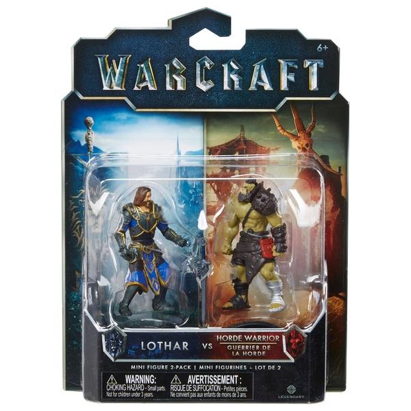 Warcraft Mini Figure 2 Pack Lothar & Horde Warrior