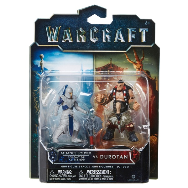 Warcraft Mini Figure 2 Pack Durotan & Alliance Soldier