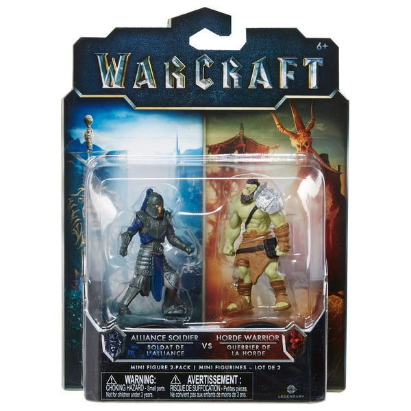 Warcraft Mini Figure 2 Pack Horde Warrior & Alliance Soldier